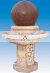 садовые каменные фонтаны по всему миру
